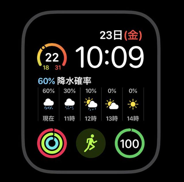 アップルウォッチ インフォグラフモジュラー