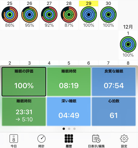 Apple Watch 睡眠トラッキング